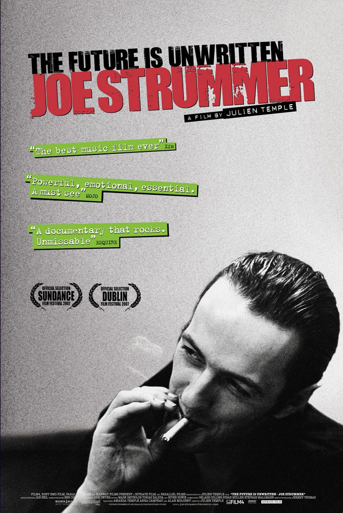 Imagen del poster de la película JOE STRUMMER : The Future Is Unwritten (VOSE) + Cinefòrum amb Miguel Ceide